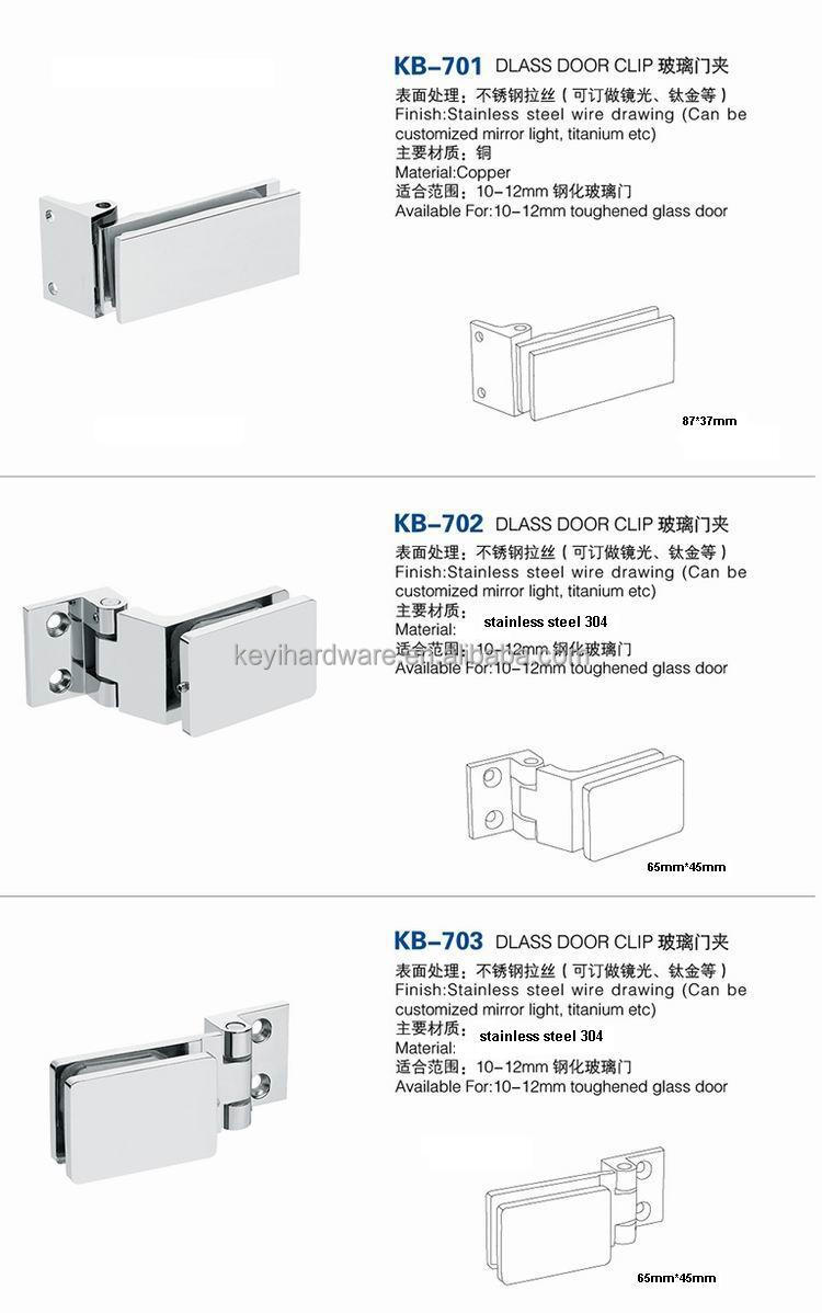 Glass to glass door hinges - Commercial Fix Clamp Wall To Glass Door Hinge Stainless Steel Connector For Shower Door