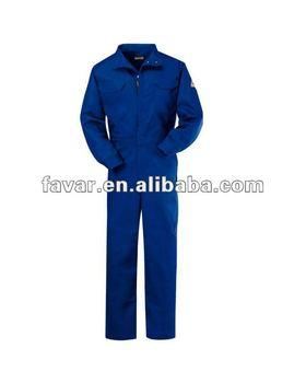 247620db66b Algodón azul marino resistente a la llama Deluxe trabajo uniformes de  seguridad ropa de trabajo trajes