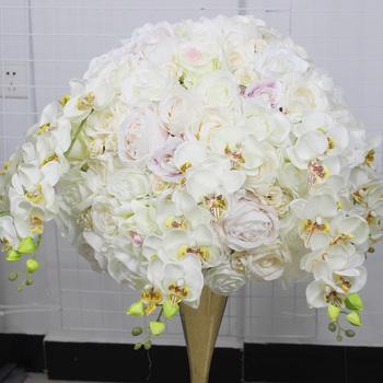 Spr 50 Cm Bodas Centro De Mesa Flor Con Orquídeas Decoración De La Boda Arreglos Fiesta Y Casa De Decoración Buy Arreglos Florales De Seda Para