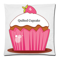 quilted cupcake square pillow case