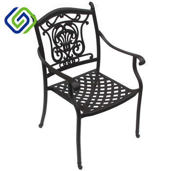 High Quality Cast Aluminum Outdoor Patio Furniture Oval Table Dining Chairs And