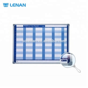 Customized offset colors and printing content magnetic year weekly planner whiteboard