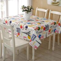 100% Cotton PVC Tablecloth Waterproof Oilproof Table Cover for Indoor Outdoor Tabletop Decor