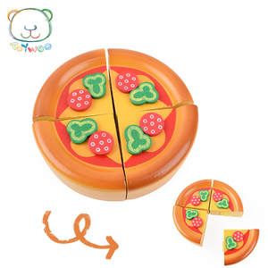 New Wooden Pizza Toys for Children Play Pretending