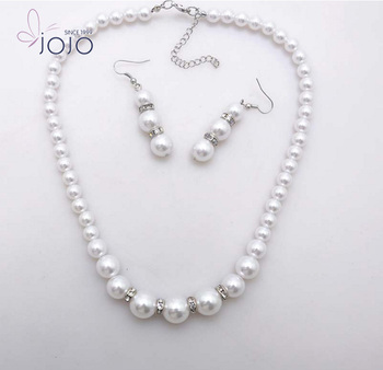 cefabd52357972 Hot selling latest design pearl necklace earring imitation bridal jewelry  set for women wedding accessories factory