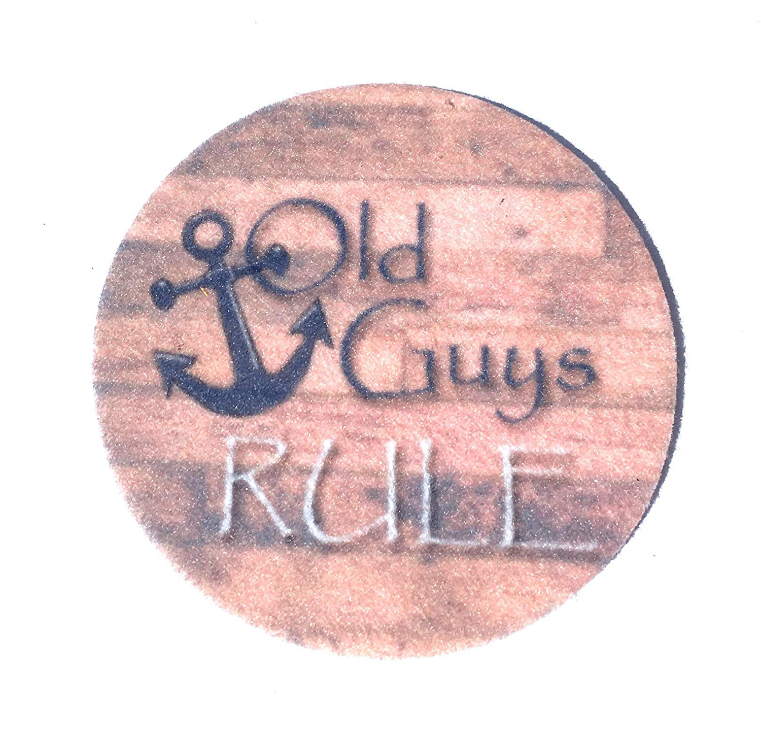 Car coasters for your cars cup holder - Set of two super absorbent Car Coasters - Old Guys Rule