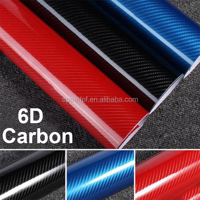 High glossy 4D texture 6D Carbon fiber car wrapping vinyl roll