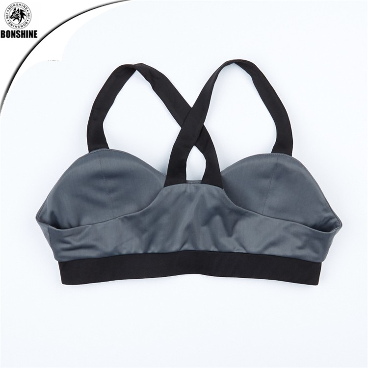 Women stitching fight color 80% polyester yoga fitness vest trousers sports suit new design