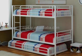 New Modern Design Bedroom Furniture Cheap Trundle High Metal Bunk