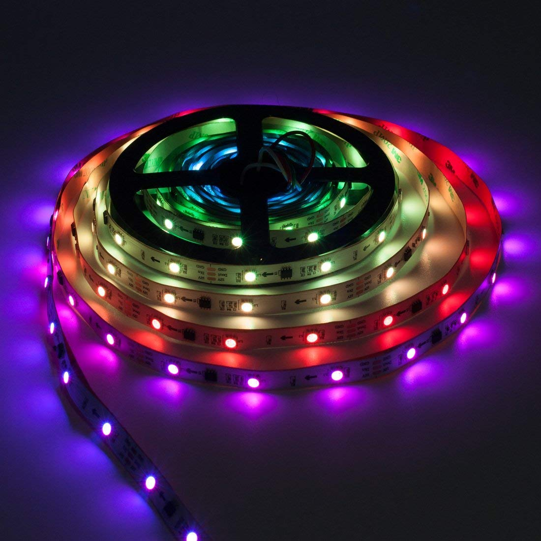 Lighting-Source WS2811 5m 16.4ft 30LEDs/m 150LEDs Addressable Flexible LED Strip Dream Color IP30 Non-Waterproof DC12V