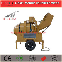 JZR500MH Diesel Engine Mobile Hydraulic Drum Concrete Mixer with hopper on sale