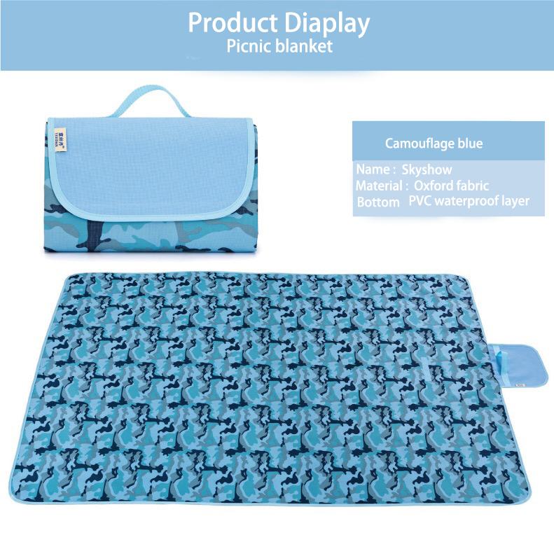 저렴한 야외 캠핑 foldable 비치 피크닉 담요 매트