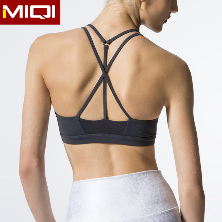 Wholesale New Styles Fitness Clothing Women Gym Fitness  Running Outfit Mesh Sexy  Sports Bra Top
