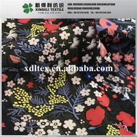 XLH909 Shaoxing woven 65%T, 9% N, 26% R colorful flower jacquard fabric lady's fashion clothing