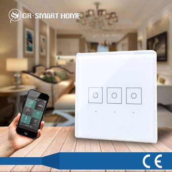 Multi-channel Glass Touch Panel Dimmer Light Switch For Z-wave Home ...