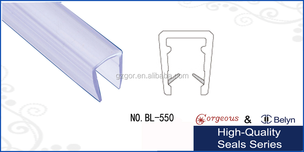 Wholesale U-shape transparent water seal strip/ seal bar for ...