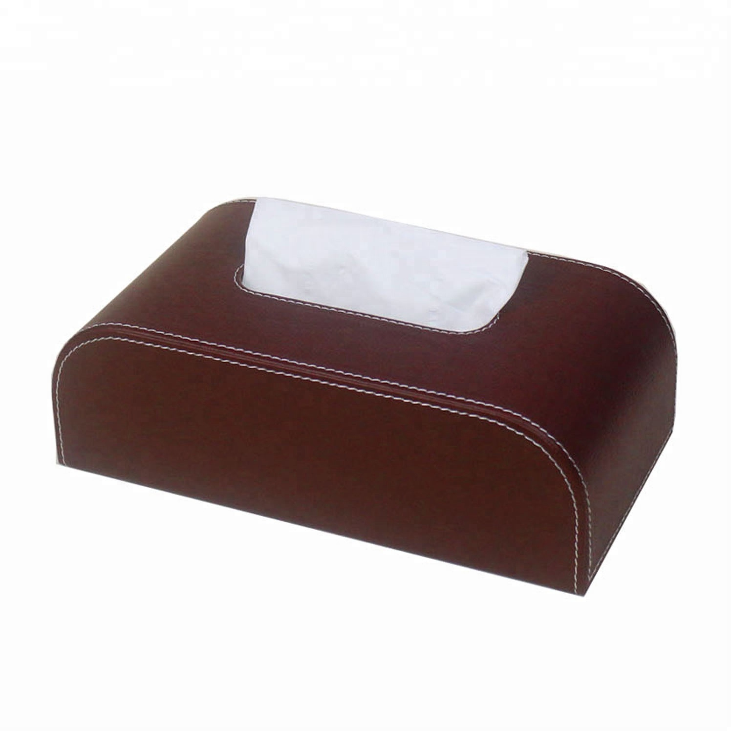 Handmade Craft Custom Leather Hotel Tissue Box