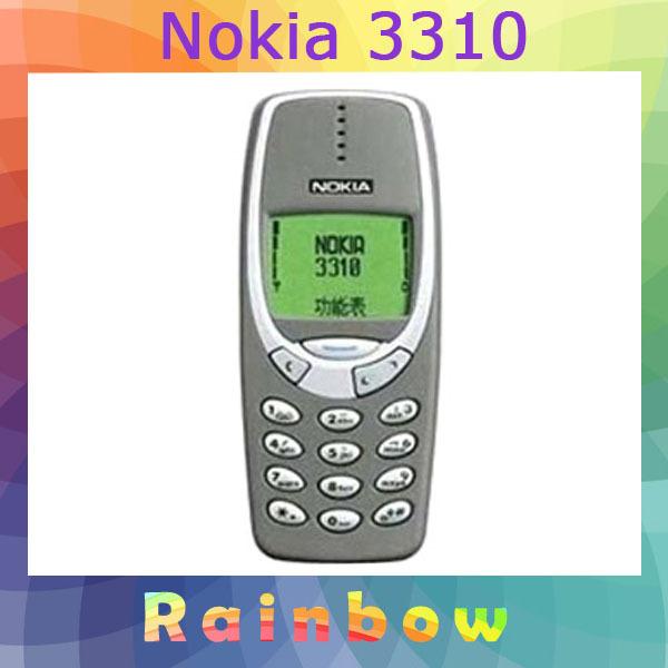 original nokia 3310 mobile phone free shipping refurbished in mobile phones from phones. Black Bedroom Furniture Sets. Home Design Ideas