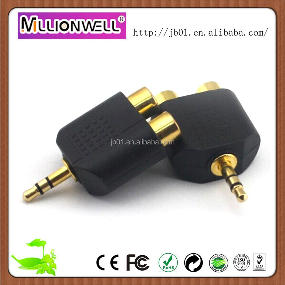 Promotional DC 3.5mm-2RCA ac dc adapter