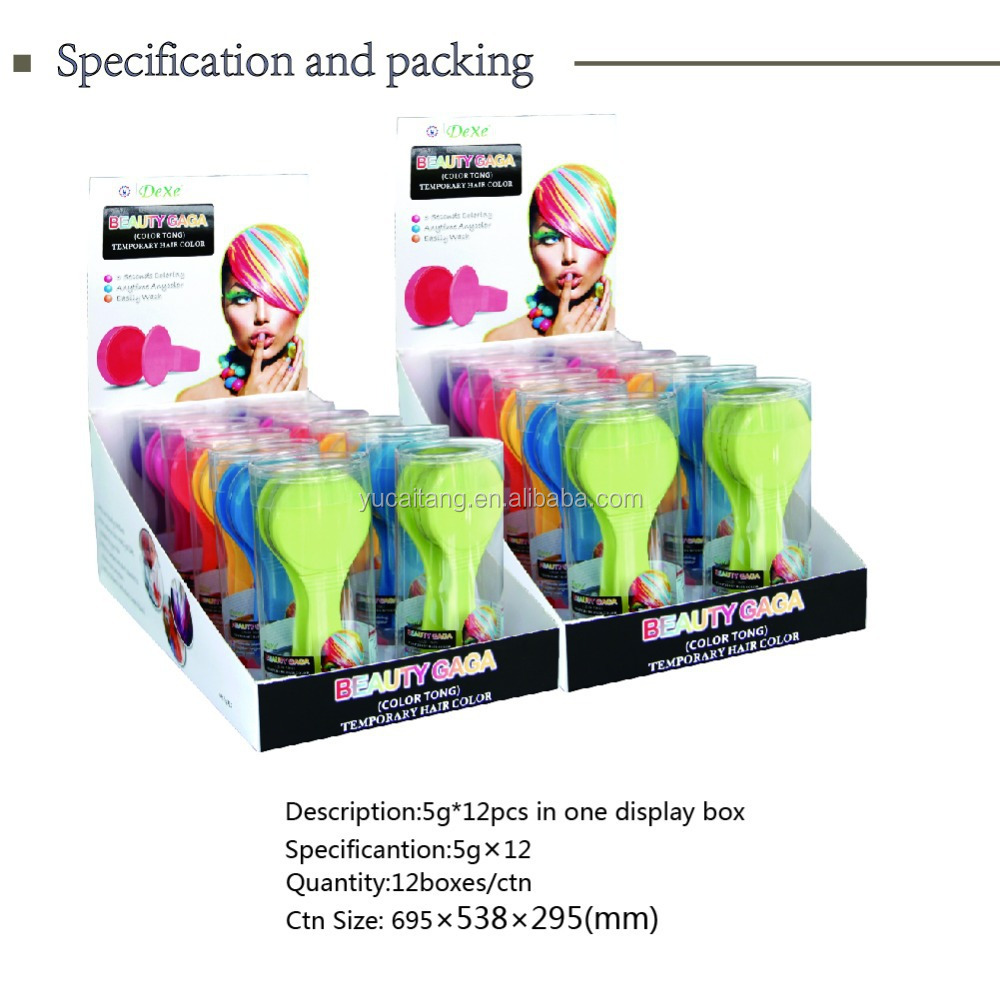 Dexe Hot Selling Temporary Hair Chalk/color Hair Chalk For Kids ...