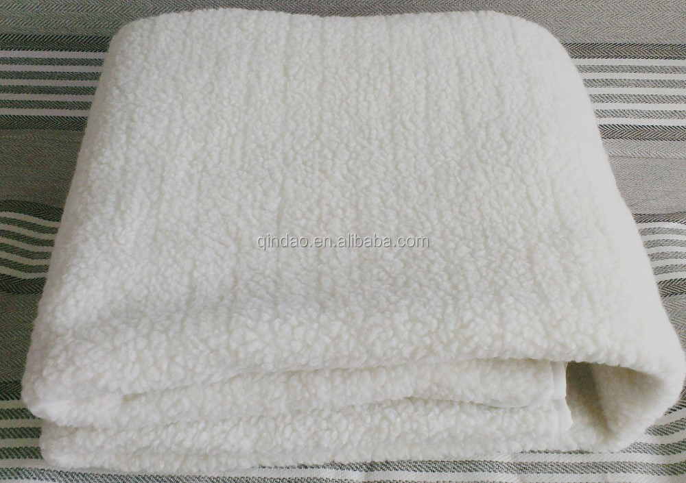 220V synthetic wool fleece electric heating blanket