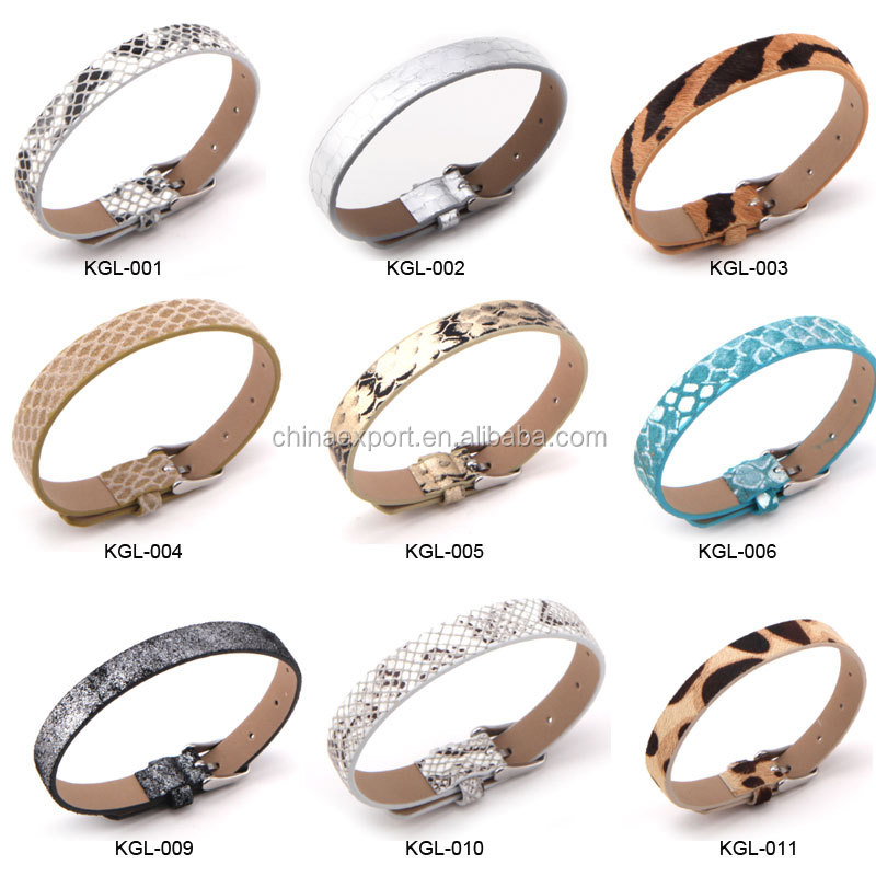 DIY 8mm Alloy Slider Charms for Kids Bracelets