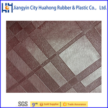 PVC Sponge Leather, PVC Synthetic Leather For Car Seat And Sofa For Cloth Huahong
