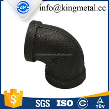 90 degrees and 180 degrees malleable black steel pipe elbow