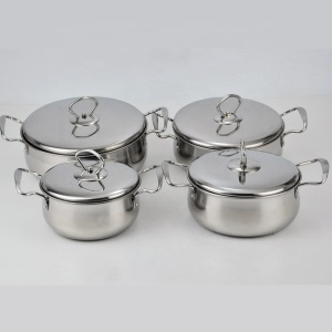 Hiking Picnic 6pcs Pots sets Outdoor Cookware Set Camping Cooking pot Set