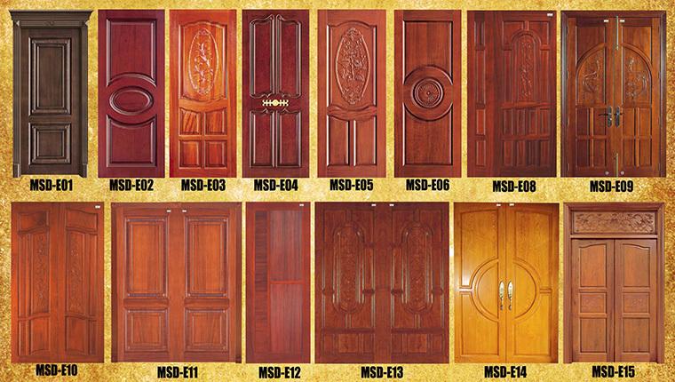 Italian style fire rated wooden door single door design for New single door design