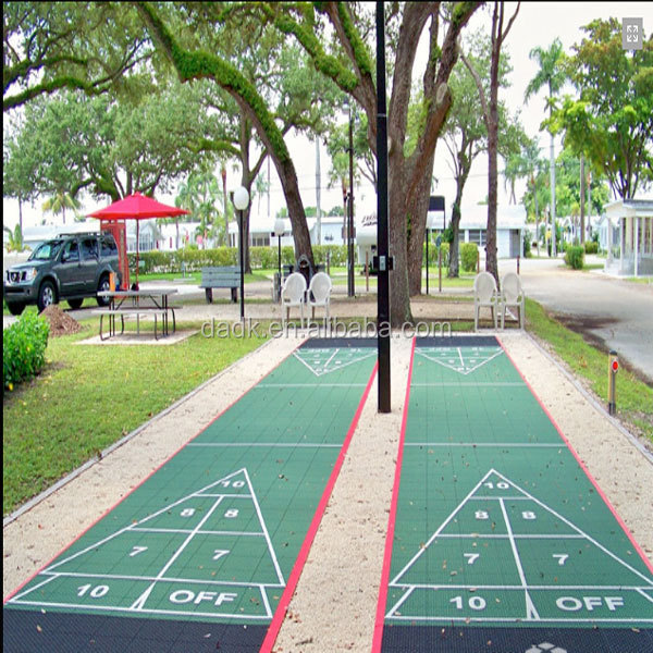 Easily Constructed Portable Shuffleboard Courts Flooring ,Pickleball Court