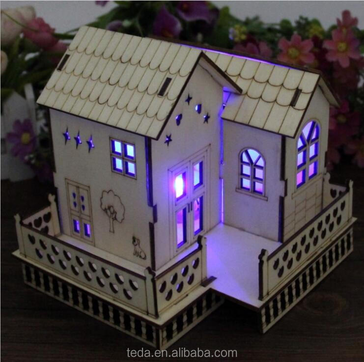 New product White House shape Adult kids educational toys mini 3D Metal puzzle for gift