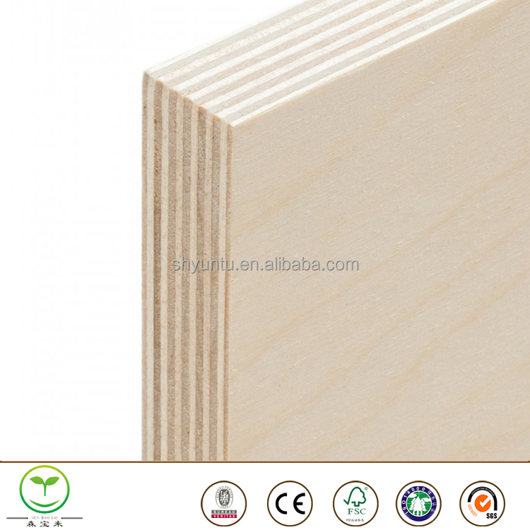 Wholesale 3mm 15mm 18mm UV coated russian baltic birch plywood