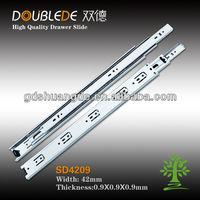 42mm 3fold drawer slide/ball bearing drawer slides manufacturers/rollers for sliding