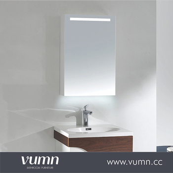 Rustic Style Bathroom Mirror With LED Light Vanity Cabinet