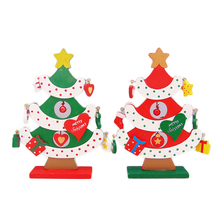 FQ brand artificial gift ornament home mini wooden tree christmas decoration