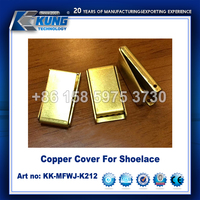 high quality fashion copper cover for shoelace