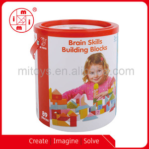 89 pcs wooden brain skills building blocks toys bricks for kids