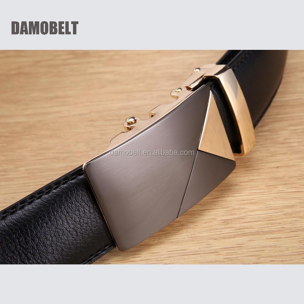 Men/'s White Leather Dress Belt, Men/'s white Quick lock belt Auto-Lock belt S