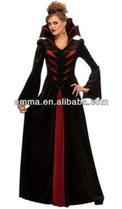 Sexy Womens Gothic Medieval Vampire Queen Halloween Costume BW547