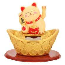 Счастливый Кот богатство развевающаяся рука Фортуна Добро пожаловать кот милые фигурки Миньоны домашний Декор Ремесло Искусство магазин о...(Китай)