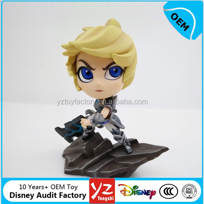 Customize plastic game lol hero Exile Riven action figure,small pvc lol figure