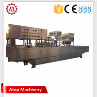 Automatic ice cream cup filling and sealing machine - Equipped with date printer
