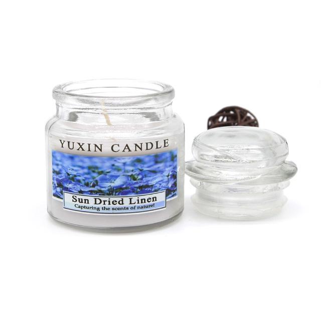 Personalizado 100% natural vela de soja en tarro de cristal estilo yankee