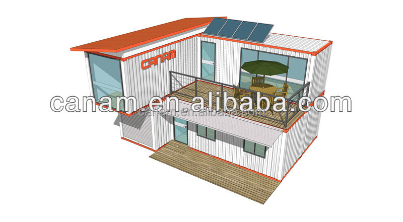 CANAM-modern economical prefab nude beach house