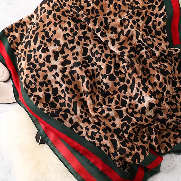 Wholesale Diablement Fort Long Pashmina Scarf with Leopard Print