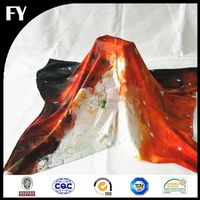 Factory direct custom digital printed satin scarf square silk