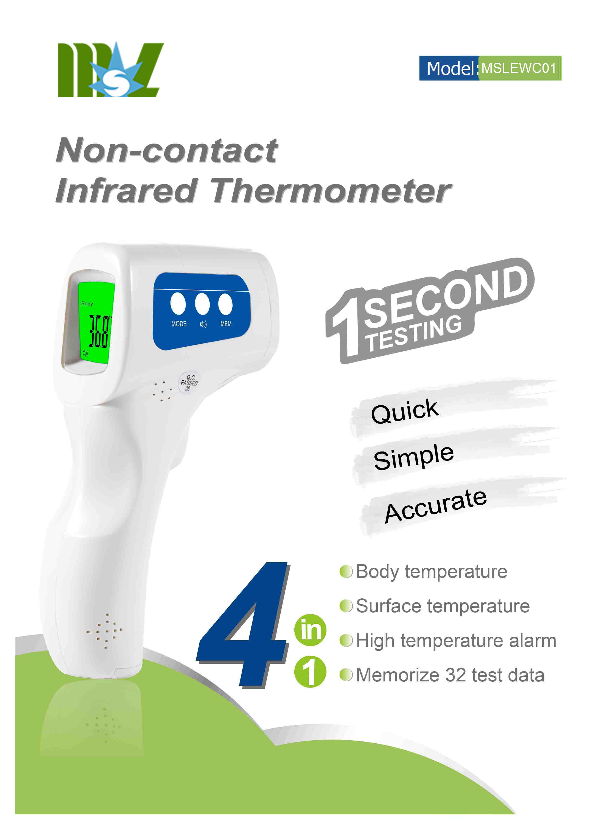 Quick Non-contact Infrared Thermometer for Sale / Accurate 4 in 1Thermometer Suit for Milk Bottle and Forehead - KingCare | KingCare.net