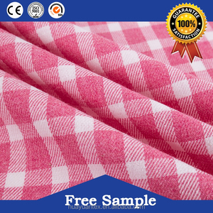 2017 fashion custom design plaid fabric lace