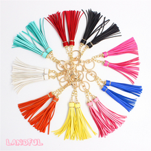Wholesale High Quality Special Tassel Charm Leather Keychain For Bag Charm